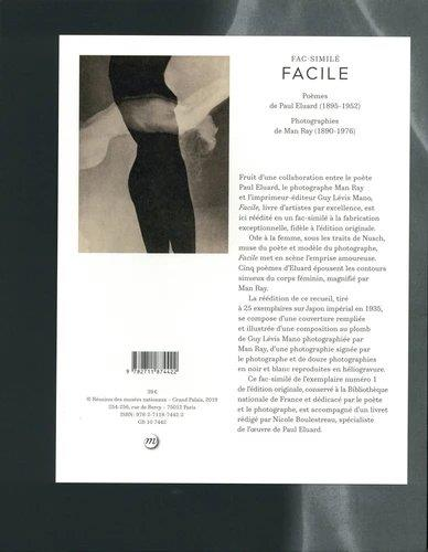 Facile ; poèmes de Paul Elouard, photographies de Man Ray