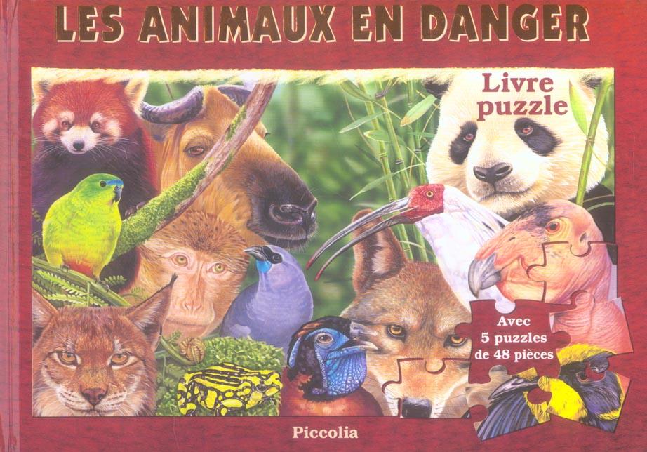 Livre De Puzzles Les Animaux En Danger Adaptation Piccolia Piccolia Grand Format Librairies Autrement
