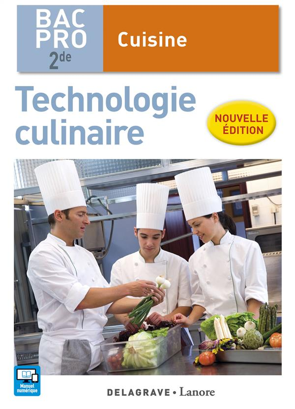 Technologie culinaire ; 2nde Bac Pro cuisine ; pochette élève