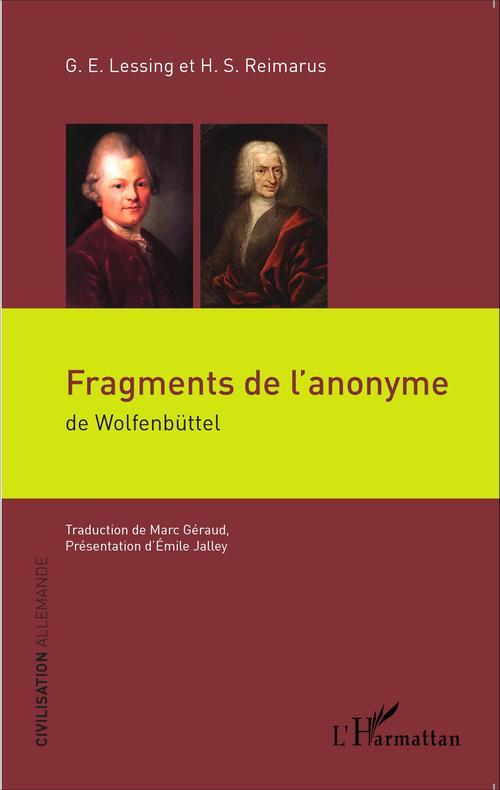 Fragments de l'anonyme de Wolfenbuttel