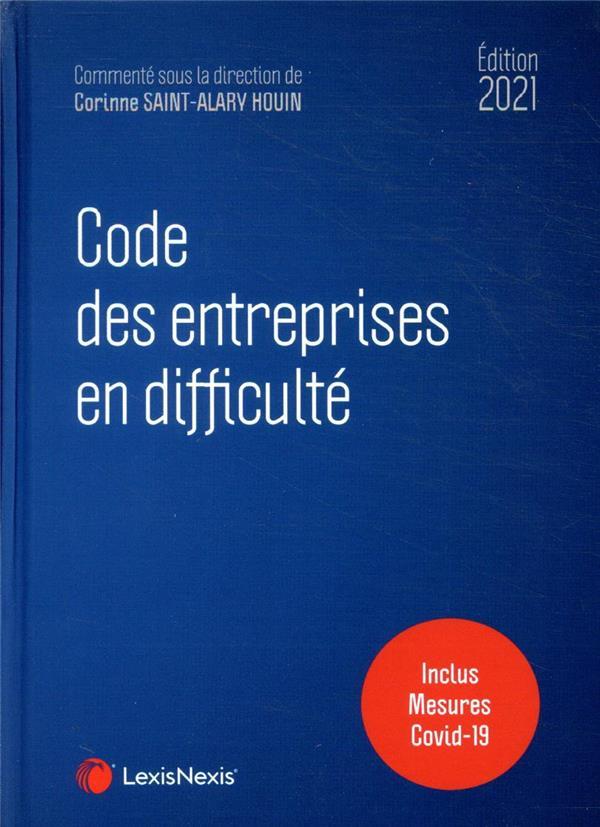 Code des entreprises en difficulté ; inclus mesures Covid 19