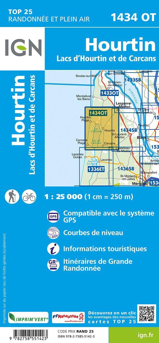1434 OT ; Hourtin ; lacs d'Hourtin et de Carcans (5e édition)