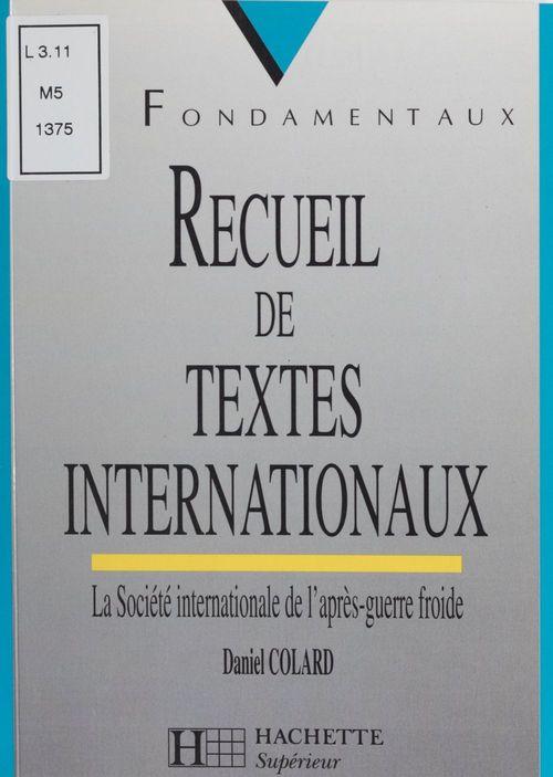 Recueil de textes internationaux
