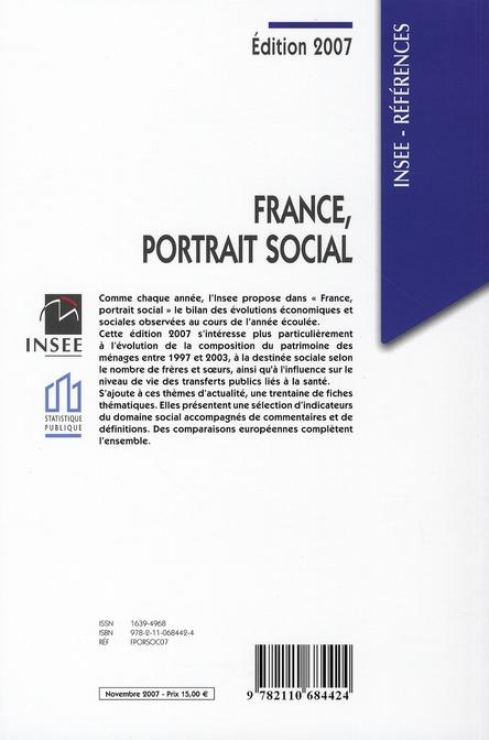 France, portrait social (édition 2007)