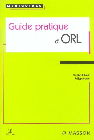 Guide Pratique D'Orl