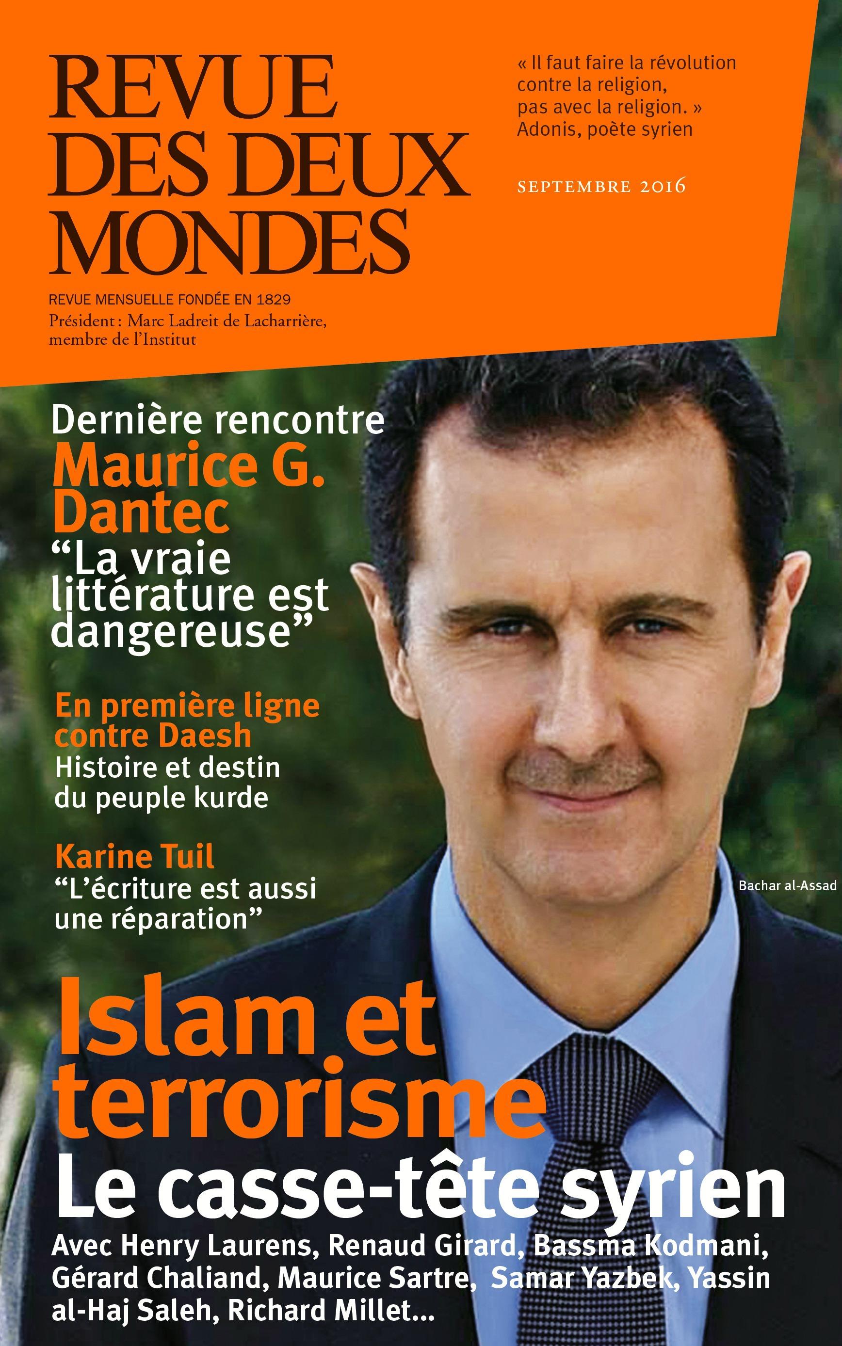 REVUE DES DEUX MONDES ; islam et terrorisme ; le casse-tête syrien
