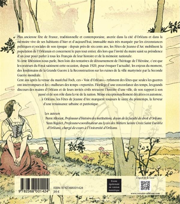 Voix de fêtes ; cent ans de discours aux fêtes de Jeanne d'Arc à Orléans 1920 - 2020