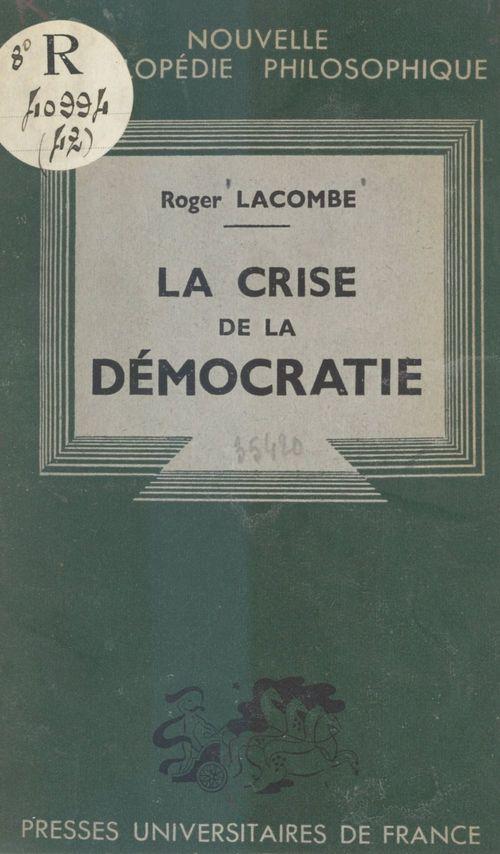 La crise de la démocratie