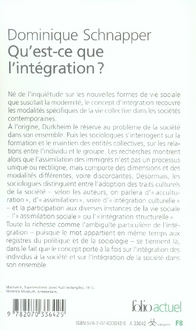 Qu'est-ce que l'intégration ?