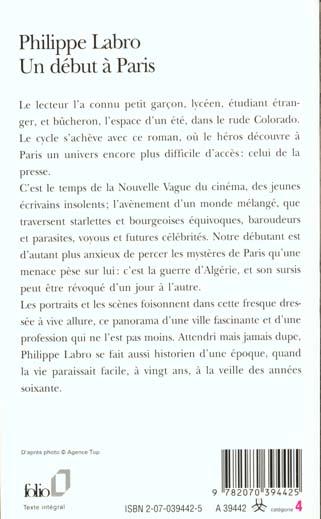 un début à Paris