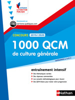 Concours ; 1000 QCM de culture générale (édition 2019/2020)  - Pascal Joly