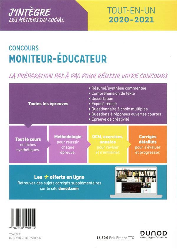 Concours moniteur éducateur ; tout-en-un (édition 2020/2021)