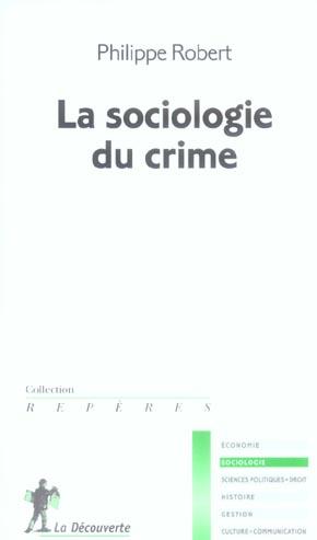 Sociologie du crime