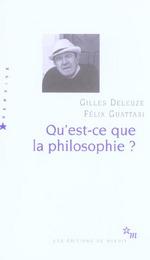 Couverture de Qu Est Ce Que La Philosophie