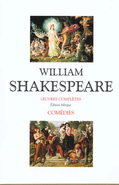 Coffret 2 volumes shakespeare - comedies - editions bilingue francais/anglais
