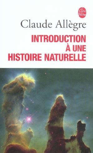 Introduction a une histoire naturelle