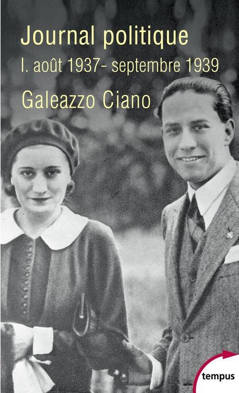 Journal politique, Tome 1 : août 1937-septembre 1939
