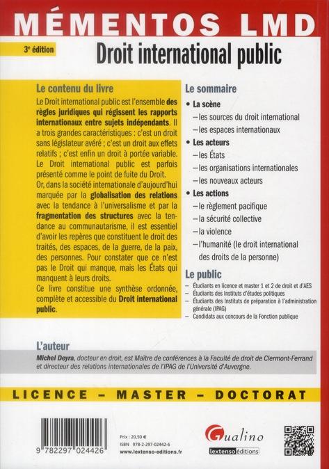 Droit international public (3e édition)