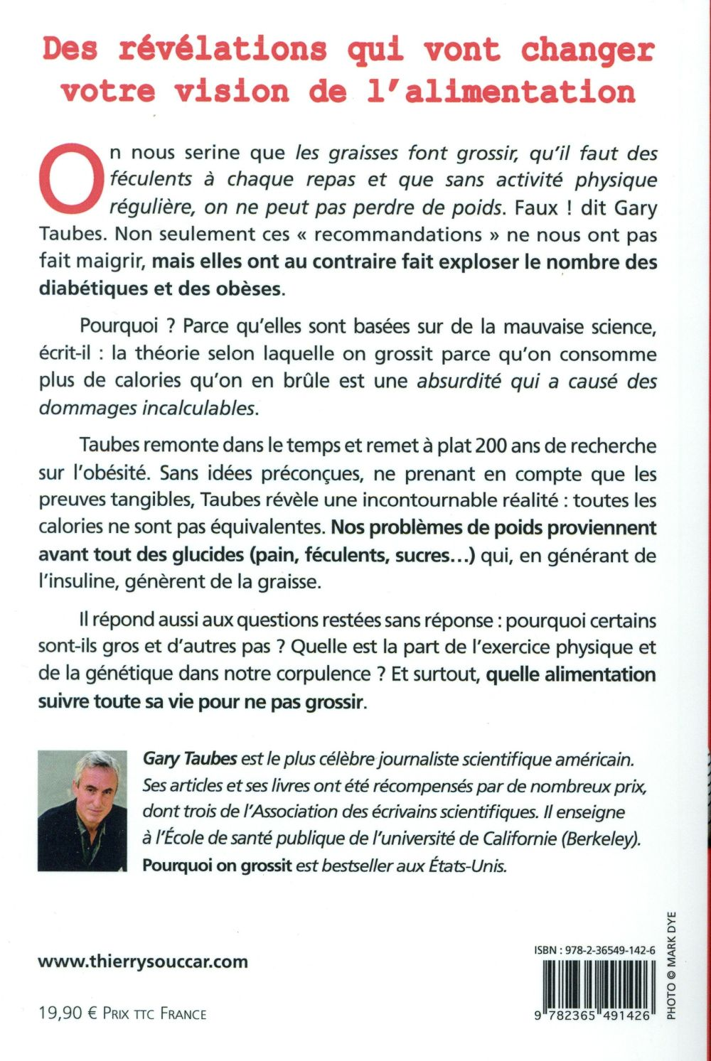 551b47d3e6b Pourquoi on grossit - Gary Taubes - Thierry Souccar - Grand format ...