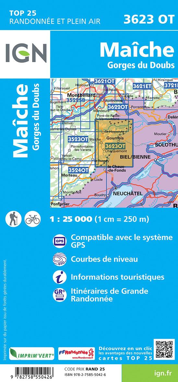 3623OT ; Maîche-Gorges du Doubs (3e édition)