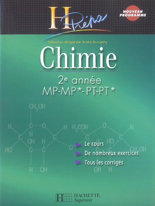 Chimie ; 2eme Annee Mp-Mp*-Pt-Pt* (Edition 2004)