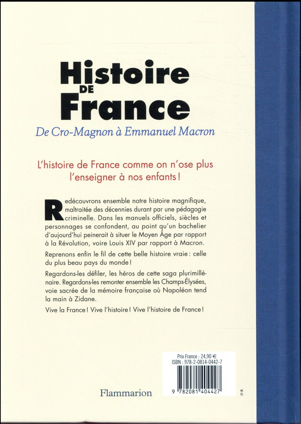 Histoire de France de Cro-Magnon à Emmanuel Macron