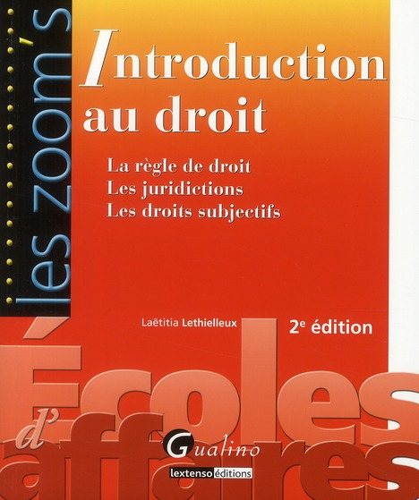 Introduction au droit (2e édition)