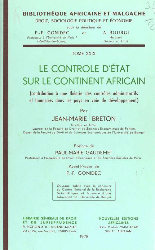 Controle etat cont. africain