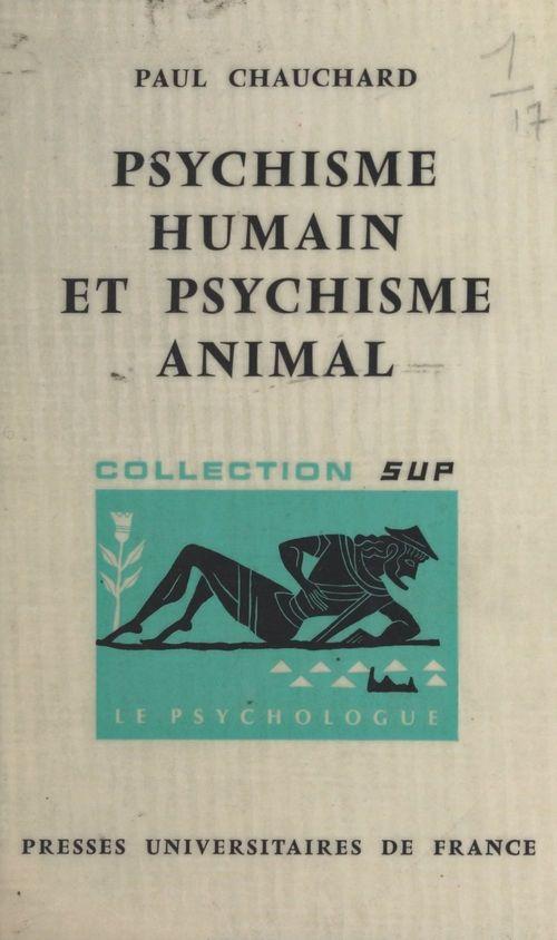 Psychisme humain et psychisme animal