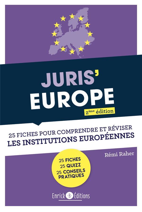 Juris'Europe ; 25 fiches pour réviser les institutions européennes