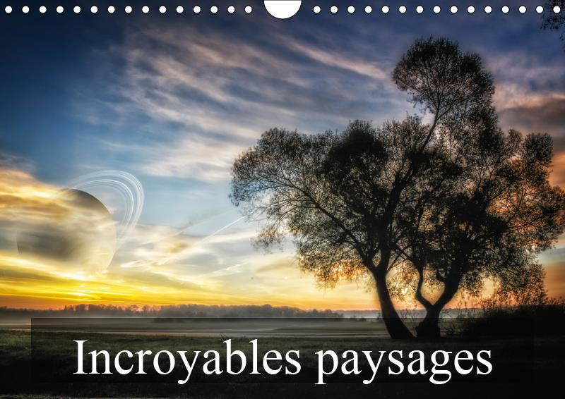 Incroyables paysages (calendrier mural 2019 din a4 horizontal) - paysages imaginaires (calendrier me