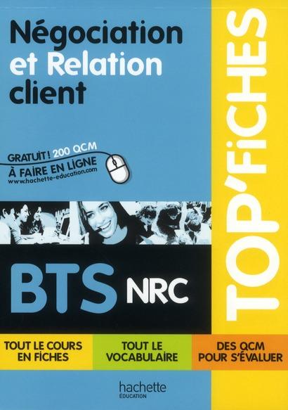 Top'Fiches; Negociation Et Relation Client ; Bts Nrc
