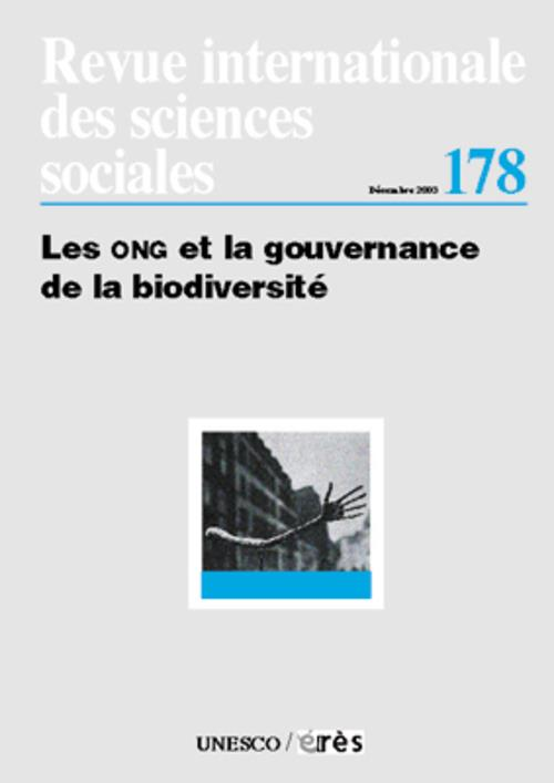 Revue riss t.178; les ong et la gouvernance de la biodiversite