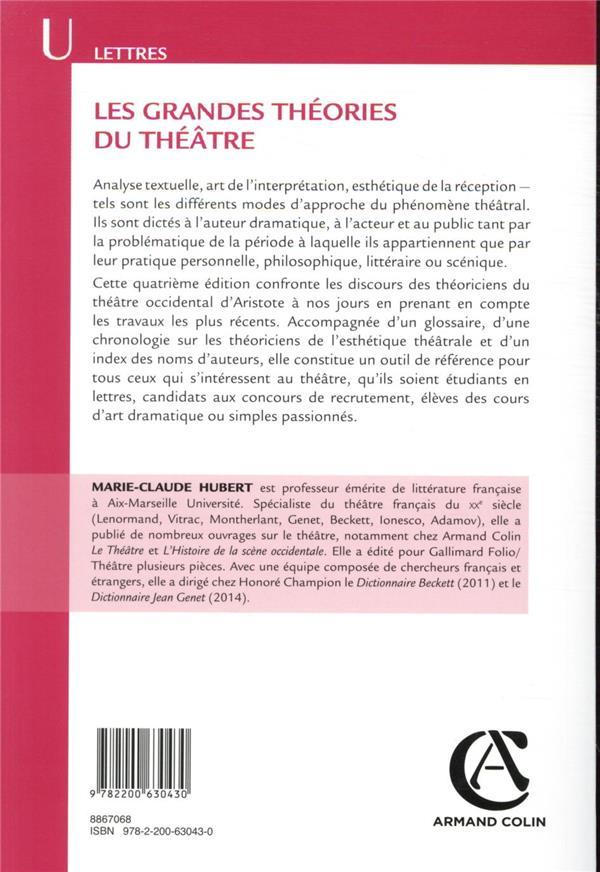 Les grandes théories du théâtre (4e édition)