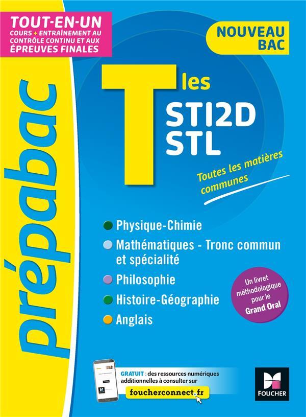 prépabac ; terminale STI2D, STL ; tout-en-un