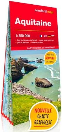 AQUITAINE 1350.000 (CARTE GRAND FORMAT LAMINEE)