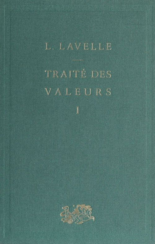 Traité des valeurs (1)