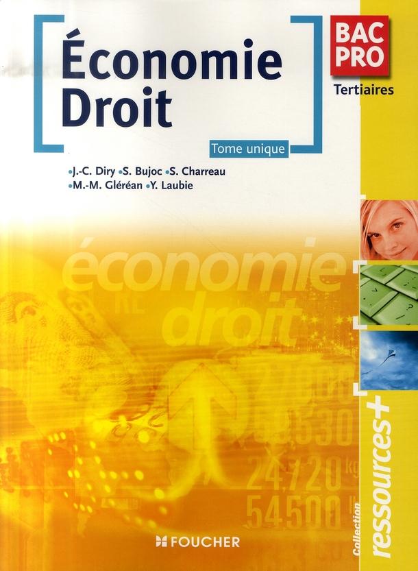 économie-droit ; bac pro tertiaires