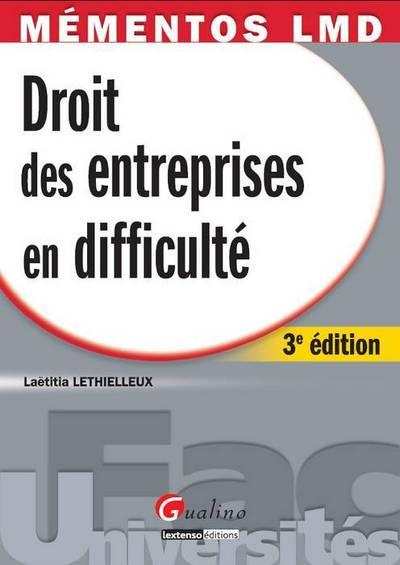 Droit des entreprises en difficulté (3e édition)