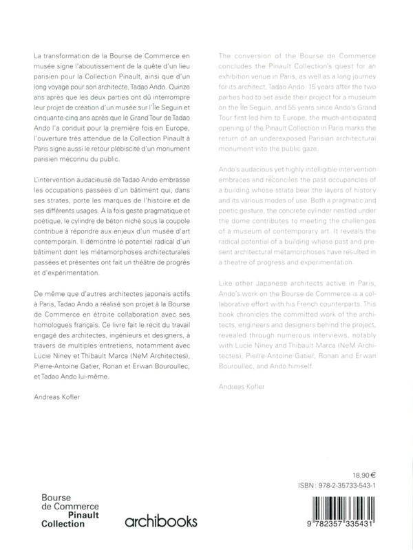 Bourse de Commerce ; Pinault collection ; Tadao Ando Architect and Associates, NeM / Niney et Marca