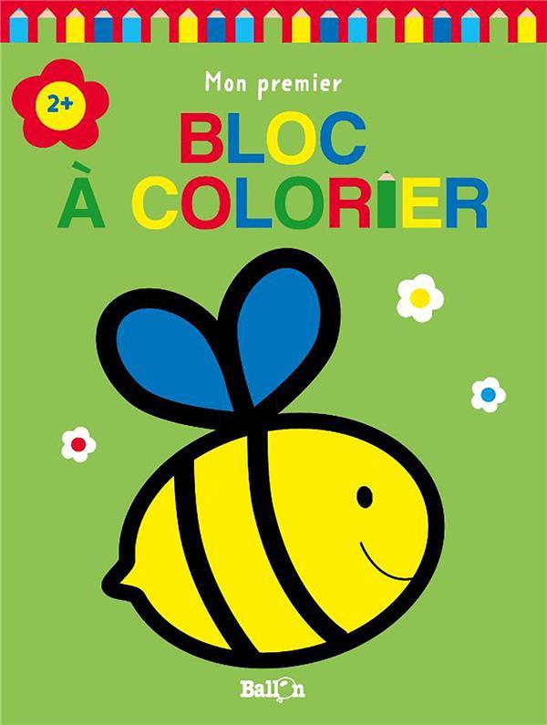 Mon premier bloc à colorier ; abeille