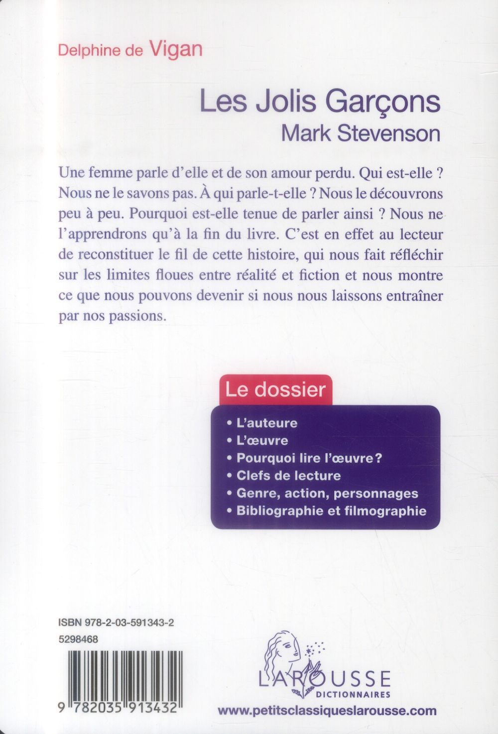 Les jolis garçons ; Mark Stevenson