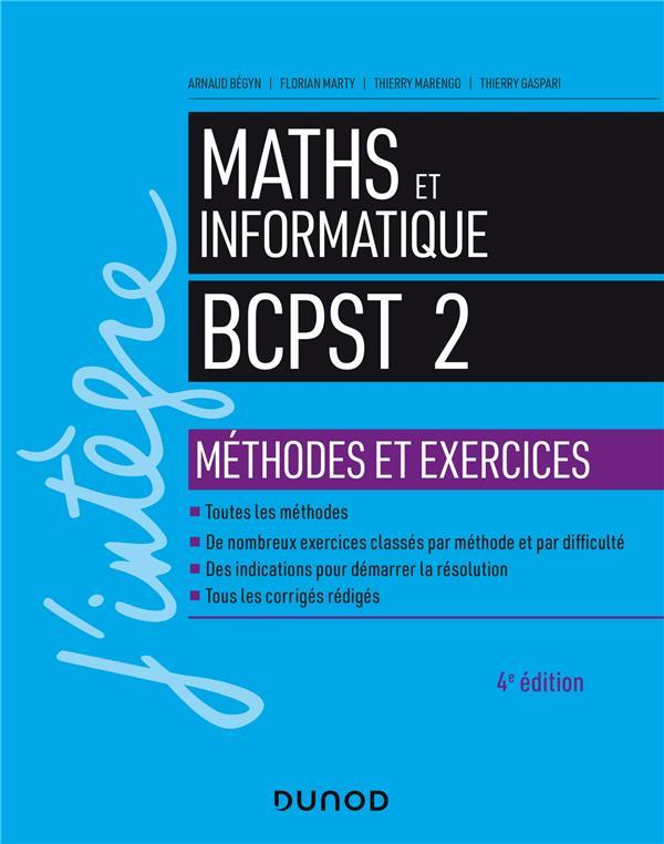 Mathématiques et informatique ; BCPST 2e année ; méthodes et exercices (4e édition)