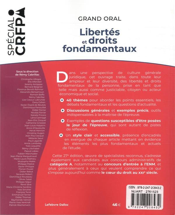 libertés et droits fondamentaux : 40 thèmes pour maîtriser l'actualité et la culture (édition 2021)