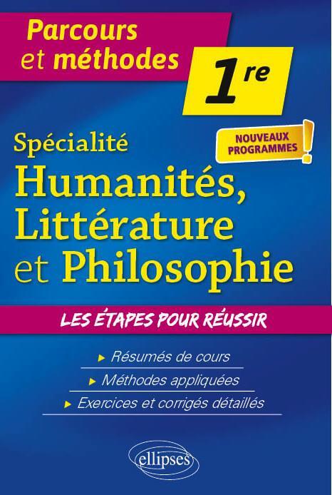 Spécialité humanités, littérature et philosophie ; 1re ; nouveaux programmes