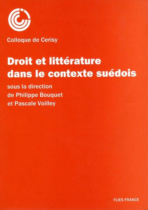 Droit et litterature contexte suedois
