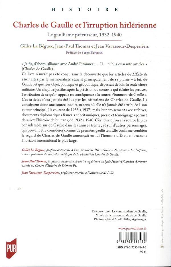 Charles de Gaulle et l'irruption hitlérienne