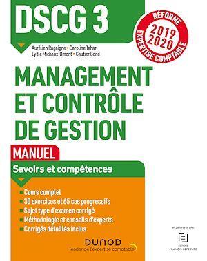 DSCG 3 ; management et contrôle de gestion ; manuel ; savoirs et compétences (édition 2019/2020)