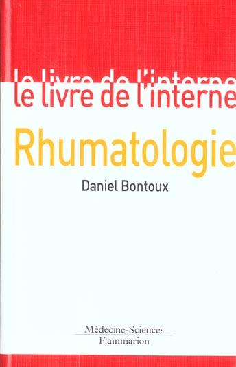 Rhumatologie (le livre de l'interne)