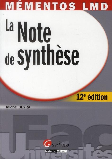 La note de synthèse (12e édition)